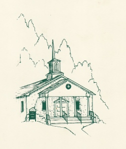 Sketch of Alabama Church by my sister