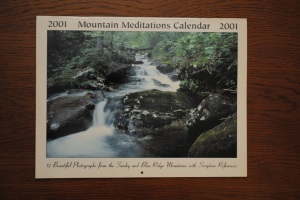 Calendar my dad bought us that year in Montreat