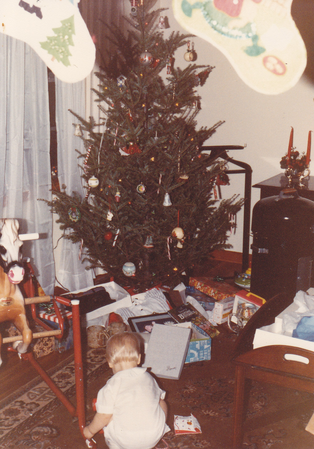 The First Year In Our Home I Hung Them From Casing Of Doorjamb Leading Into Living Room Just Barely Visible This Old Photo